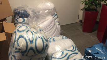 Blankets meant for the use of asylum-seekers