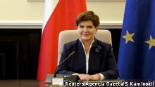 Polen Beata Szydlo Premierministerin