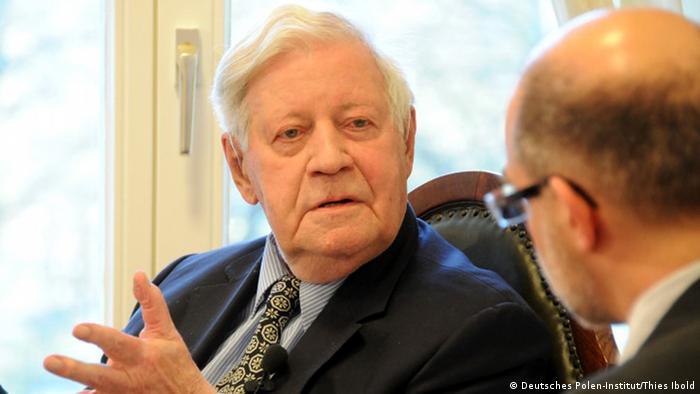 Kamin-Gespräch mit Helmut Schmidt im Deutschen Polen-Institut (Deutsches Polen-Institut/Thies Ibold)
