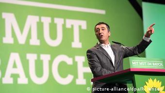 Bundesvorsitzender der Partei von Bündnis 90/Die Grünen Cem Özdemir beim Bundesparteitag