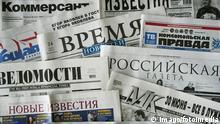 Russische Zeitungen Presse Russland