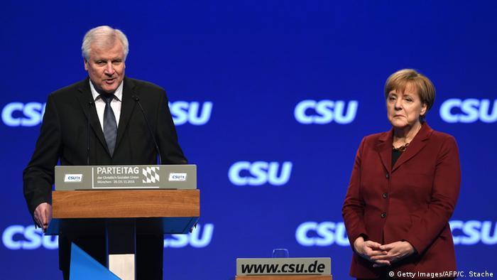 Angela Merkel und Horst Seehofer CSU Parteitag