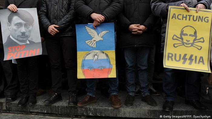 Ukraine - Protest auf dem Maidan am 20.02.2015 (Foto: AFP/Getty Images)