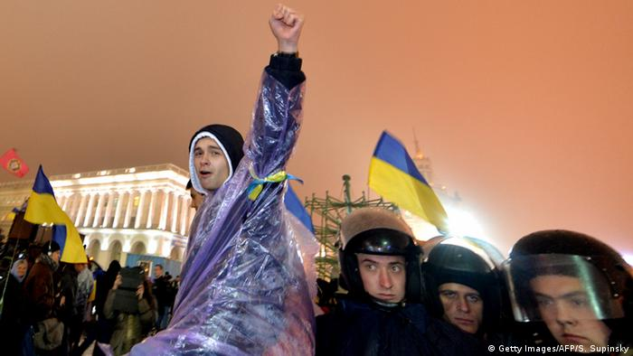Ukraine - Protest auf dem Maidan am 22.11.2013 (Foto: AFP/Getty Images)
