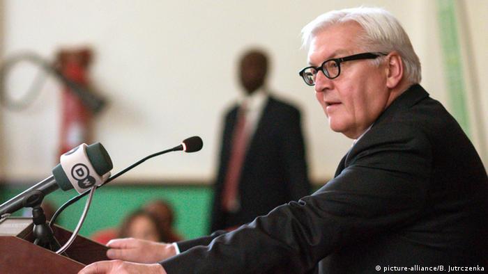 Uganda - Bundesaußenminister Frank-Walter Steinmeier