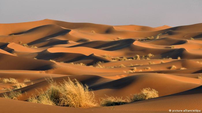 Sand dunes of Erg Chebbi, in the Saharan Desert of Morocco