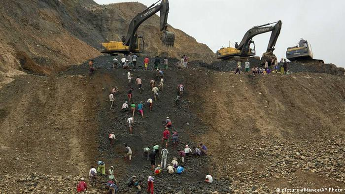 Myanmar, Hpakant, Jade, Erdrutsch