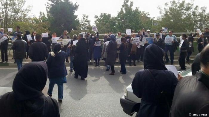 Iran Kundgebung vor Ewin Gefängnis (amadnews)