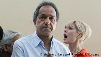 Daniel Scioli, candidato del Frente para la Victoria kirchnerista.