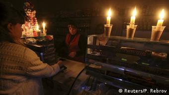 Продуктовий магазин у Сімферополі - торгівля при свічках