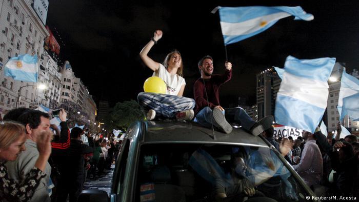 Júbilo en las calles de Buenos Aires
