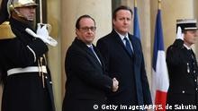 Frankreich Francois Hollande & David Cameron