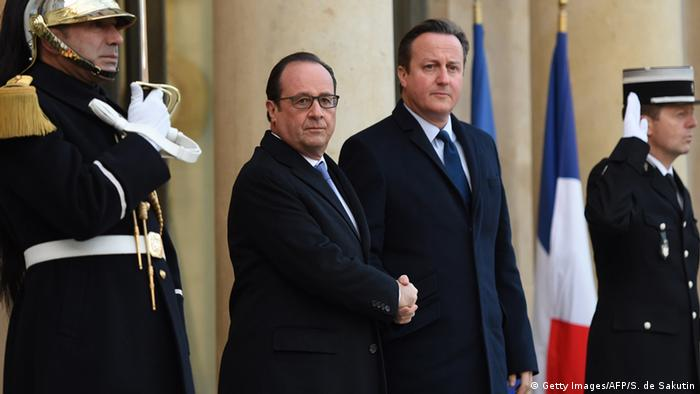 Francois Hollande and David Cameron