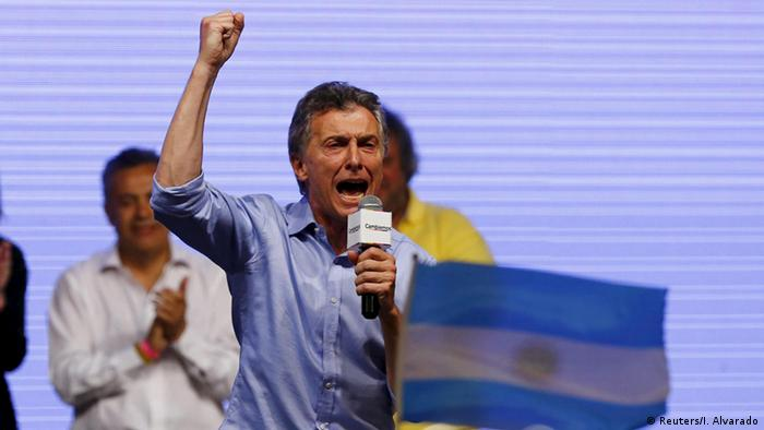 Mauricio Macri, presidente electo de Argentina.