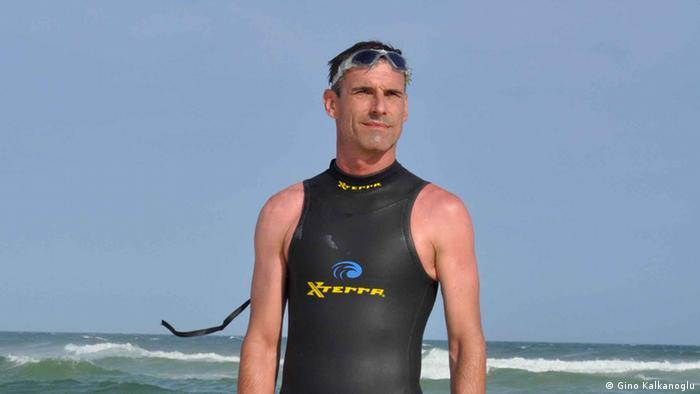 French swimmer Ben Lecomte