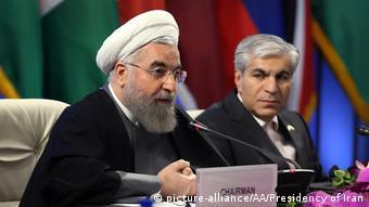 Президент Ирана Хасан Роухани на саммите ФСЭГ