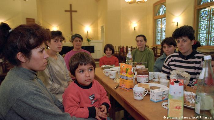 Armenian family protected by a church in 1994