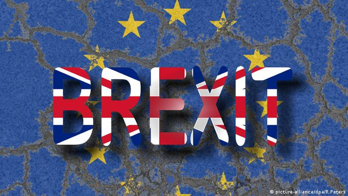 Brexit Symbolbild EU Flagge Union Jack Europäische Union