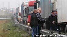 Russland Proteste von LKW-Fahrern