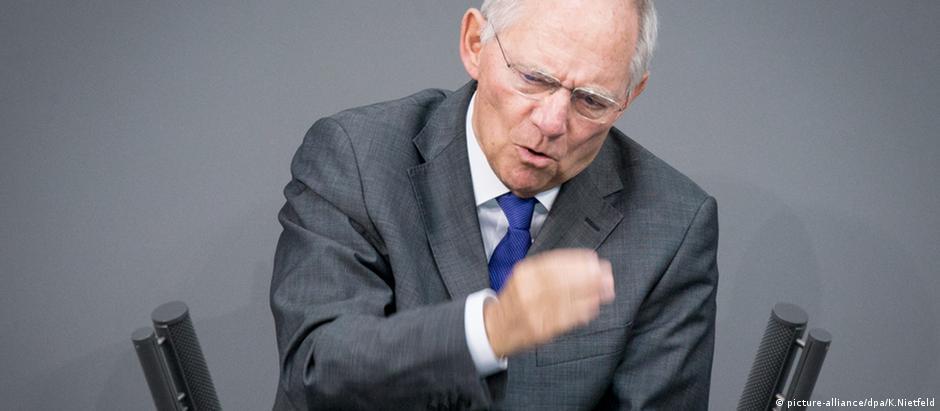 Ministro alemão das Finanças, Wolfgang Schäuble