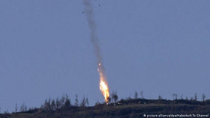 Downing of Russian Su-24 Jet fighter