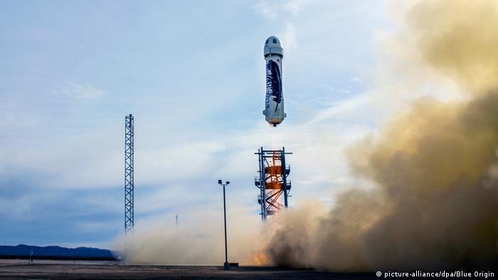 Raumfahrtunternehmen Blue Origin testet wiederverwendbare Rakete