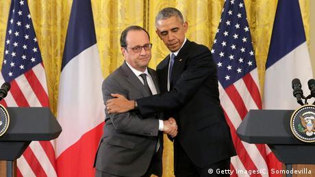 Франсуа Олланд начинает визит вСША