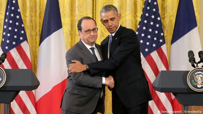Hollande (li.) und Obama (Foto: Getty)