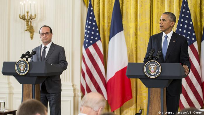 Президенты Франции и США