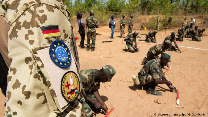 Bundeswehr soliders on the UN peacekeeping mission