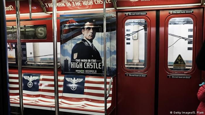 Posters for The Man in the High Castle in New York subway, Copyright: Getty Images/S. Platt