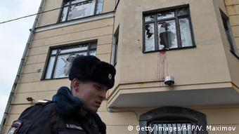 Moskau, Ausschreitungen vor türkischer Botschaft