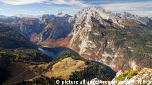 Koenigssee und Watzmann, Nationalpark Berchtesgaden, Berchtesgadener Alpen, Berchtesgadener Land, Oberbayern, Bayern, Deutschland Copyright: DW/M. Luamba