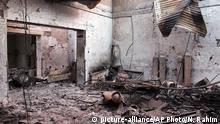 Afghanistan US-Luftangriff - Ärzte ohne Grenzen Krankenhaus in Kundus