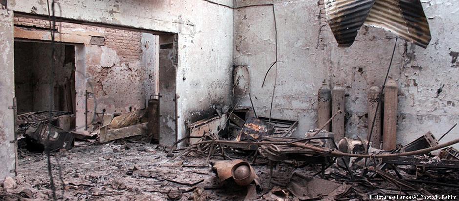 Hospital da MSF em Kunduz foi destruído em bombadeio americano