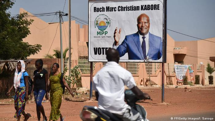 Ein Wahlplakat von Präsident Kabore.