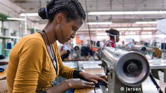 Äthiopien Textilindustrie Fabrik Näherin