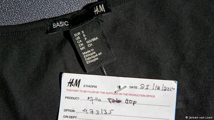 Clothing giant H&M is one of the companies producing its garments in Ethiopia