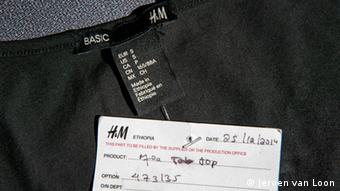 An H&M shirt made in Ethiopia Picture: Jeroen van Loon