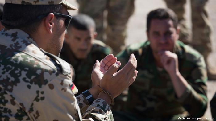 Немецкий военный инструктор в Ираке (фото из архива)