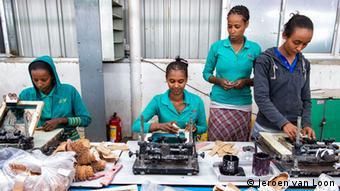 Äthiopien Textilindustrie Fabrik Näherinnen