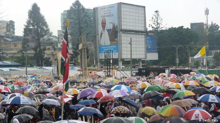 A crowd of people at the Nairobi Mass