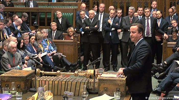 Premier Cameron im Parlament (Foto: picture alliance)