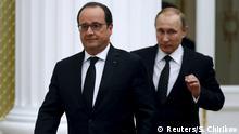 Russland Francois Hollande & Wladimir Putin