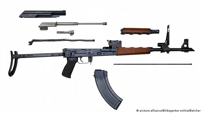 АК-47 в разобранном виде
