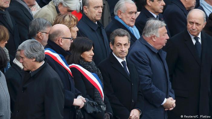 Frankreich Trauer für die Opfer der Anschläge Trauergäste Nicolas Sarkozy