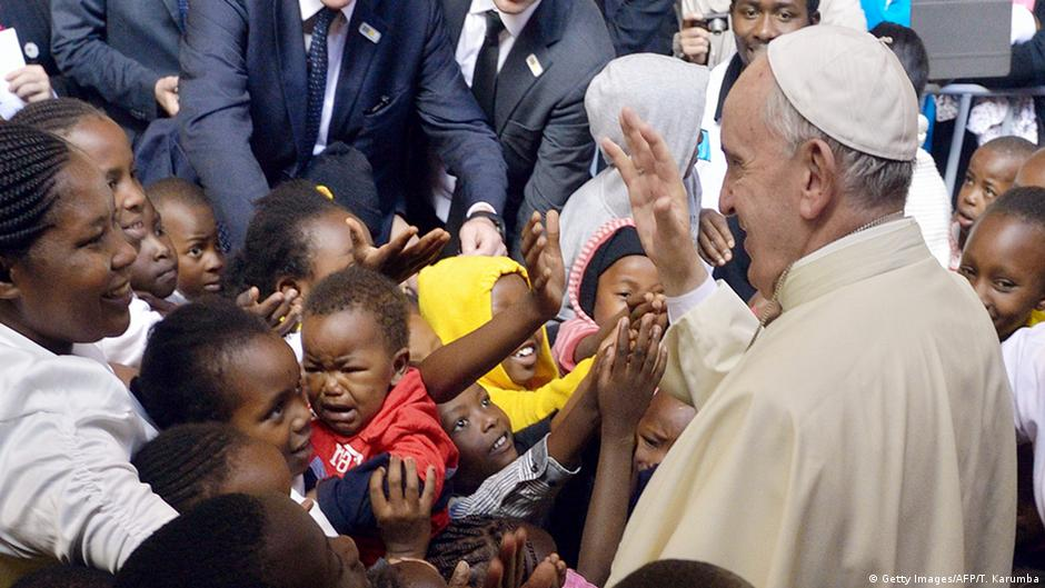 Pope visits the poor, lashes out at rich minorities