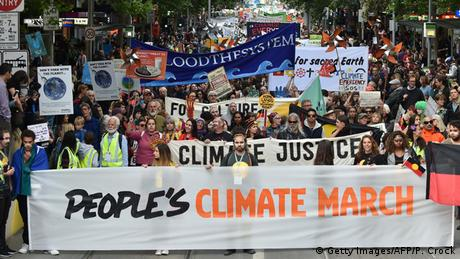 Australien Melbourne Anti Klimawandel Demonstration