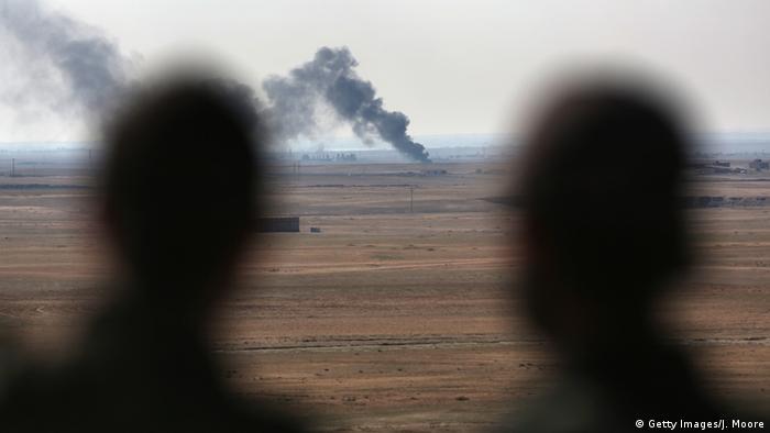 Syrien IS brennende Ölquelle