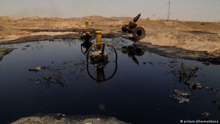 Разлитая нефть в Ираке